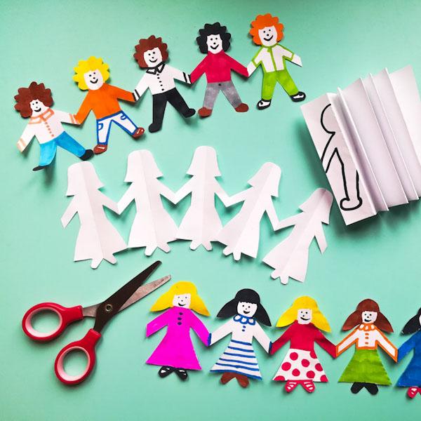 Bamboline di carta - origami - Ghiotto e Pastrocchio