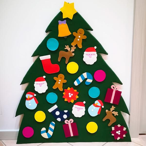Albero di Natale in feltro per bambini - Ghiotto e Pastrocchio