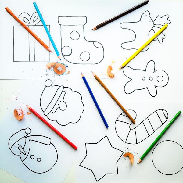 Disegni natalizi da colorare - Ghiotto e Pastrocchio