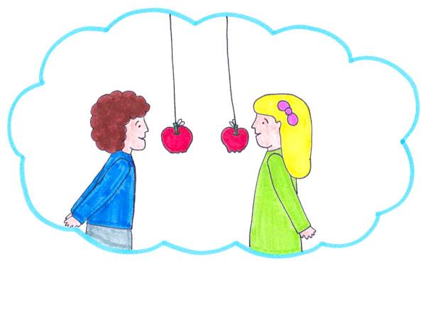 Addenta la mela - Ghiotto e Pastrocchio