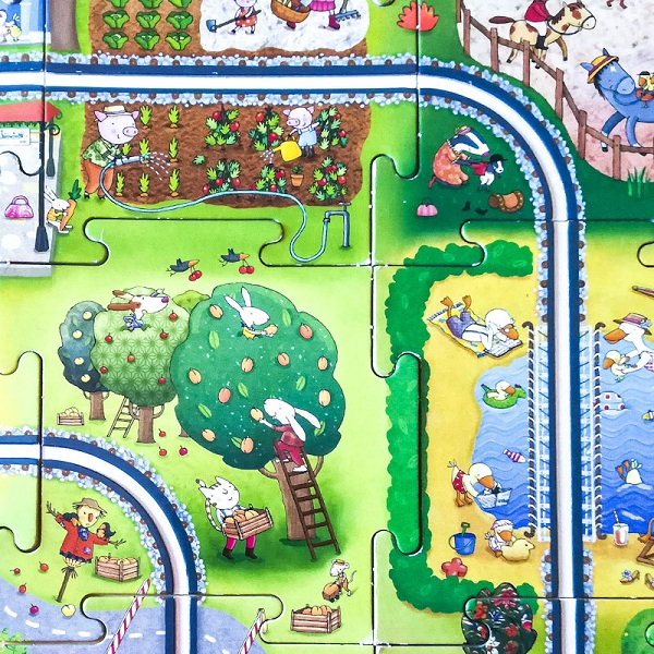 puzzle viaggia vaggia trenino - Ghiotto e Pastrocchio