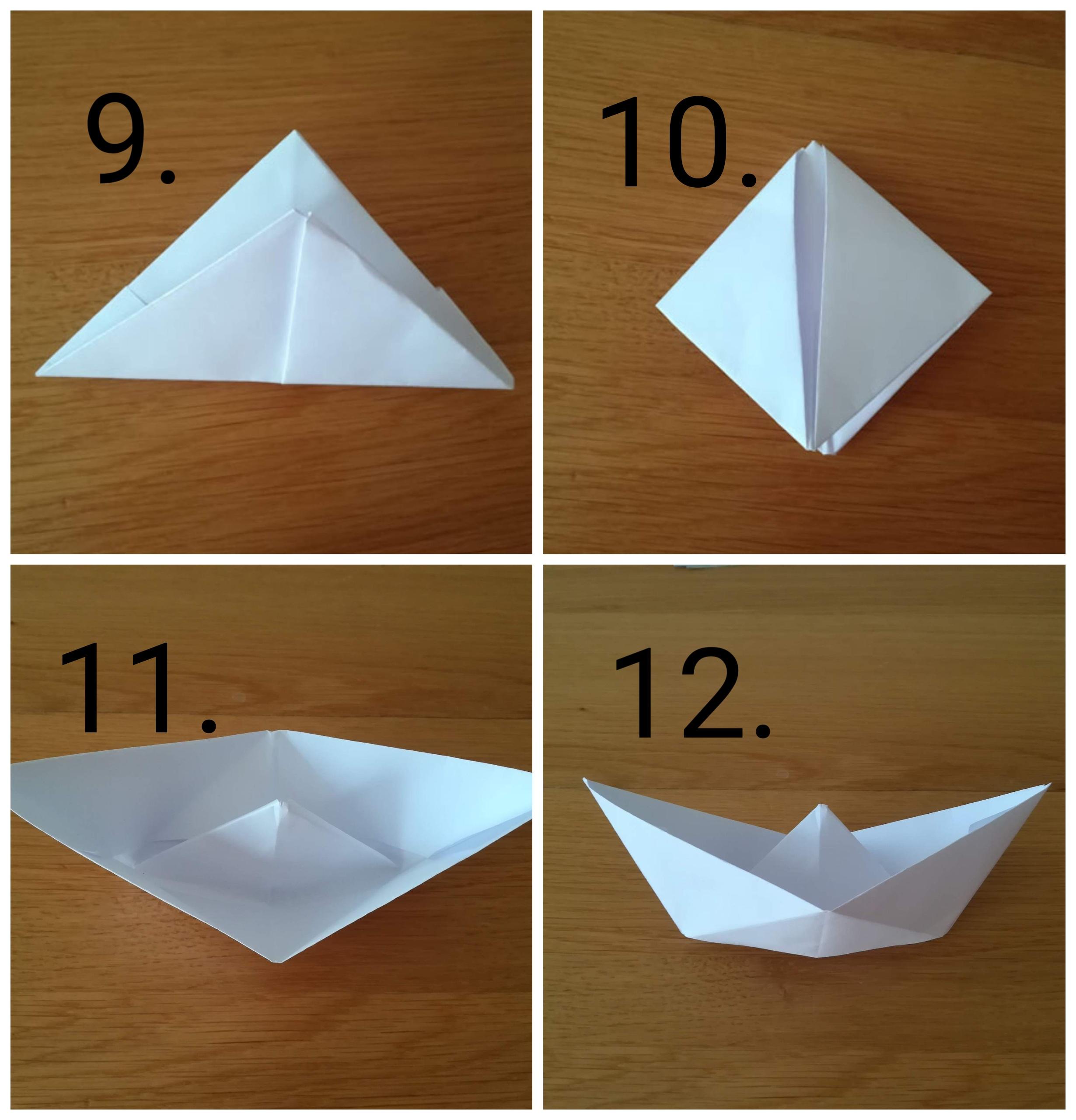 origami barchetta - Ghiotto e Pastrocchio