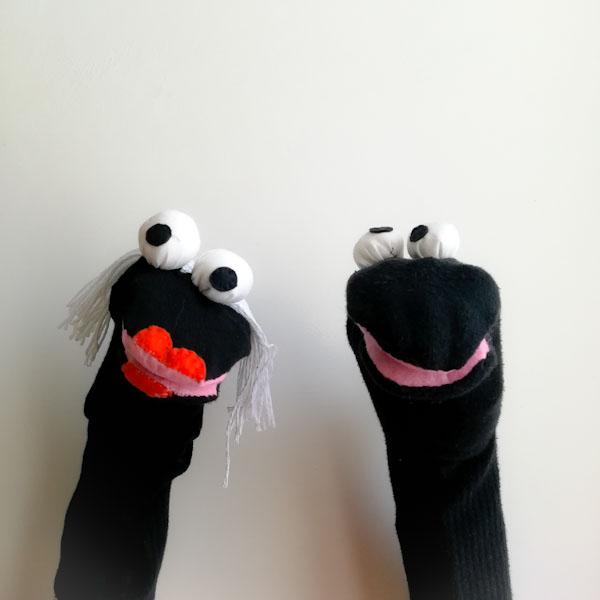 Marionette con le calze - Ghiotto e Pastrocchio