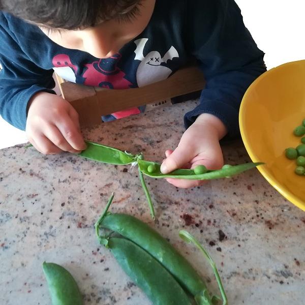 Sgranare i piselli - Ghiotto e Pastrocchio