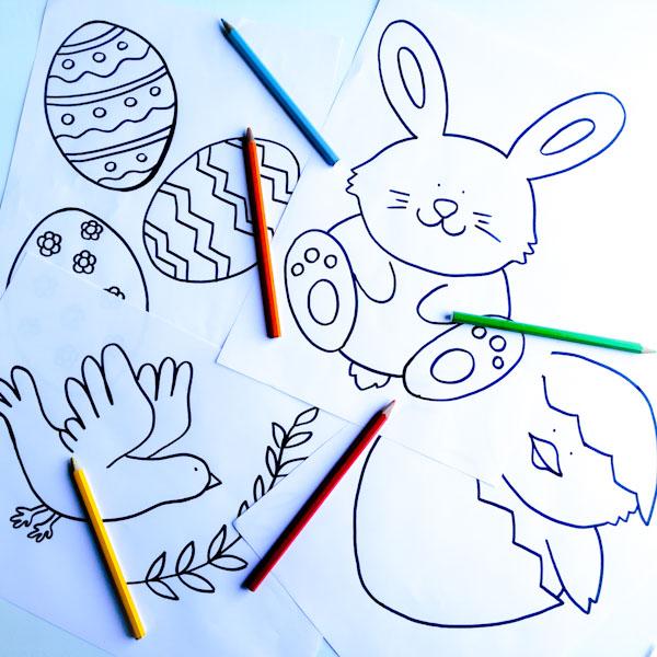 Disegni pasquali da colorare - Ghiotto e Pastrocchio