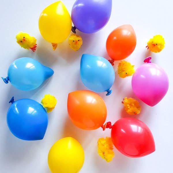 Gusci di cioccolato con palloncini