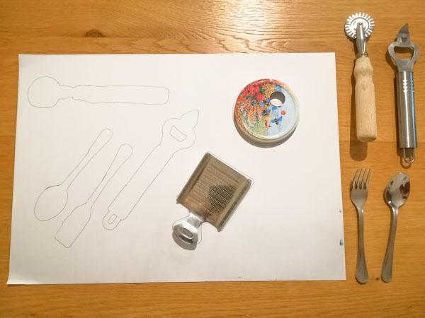 Riconoscere le forme degli oggetti - Ghiotto e Pastrocchio