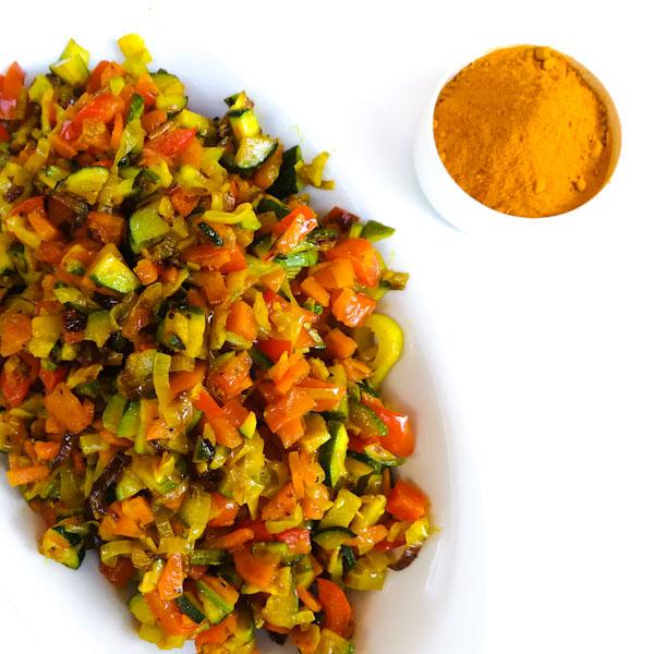 Verdure alla curcuma - Ghiotto e Pastrocchio