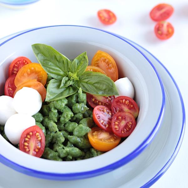 Spatzle di spinaci e zucchine