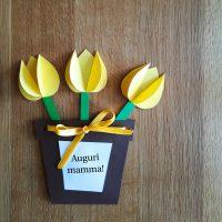 biglietto vasetto di tulipani - Ghiotto e Pastrocchio
