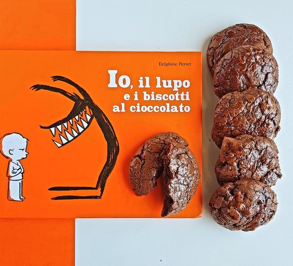 io il lupo e i biscotti al cioccolato